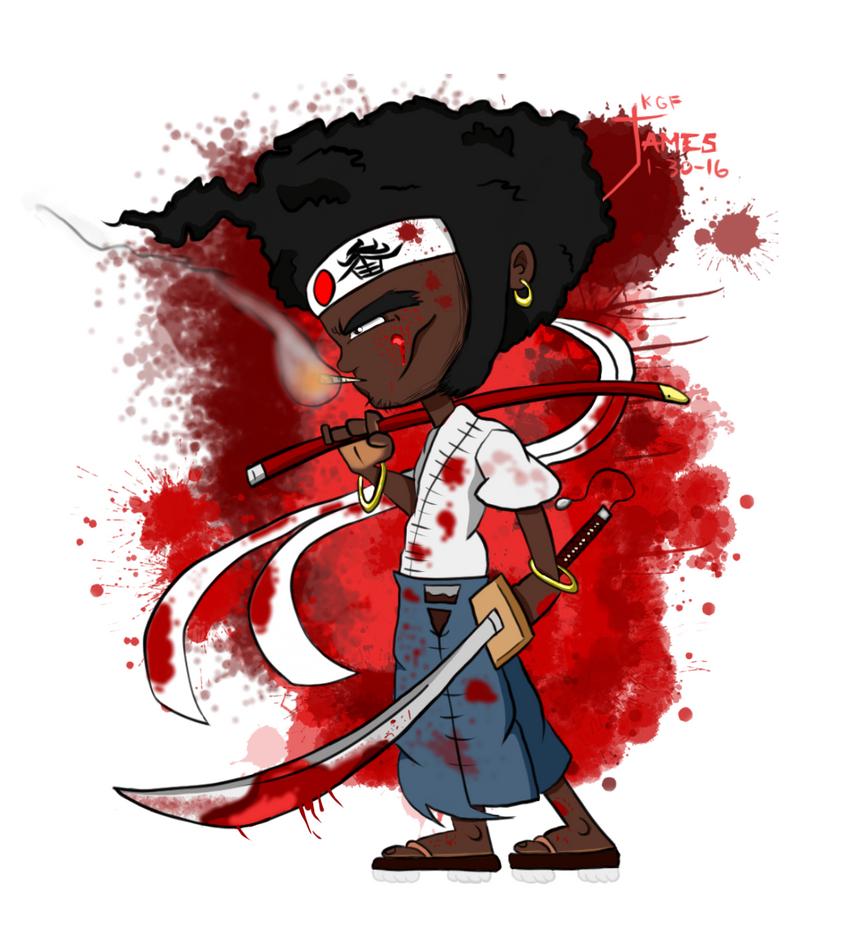 Afro Samurai Chibi by DinomanInc