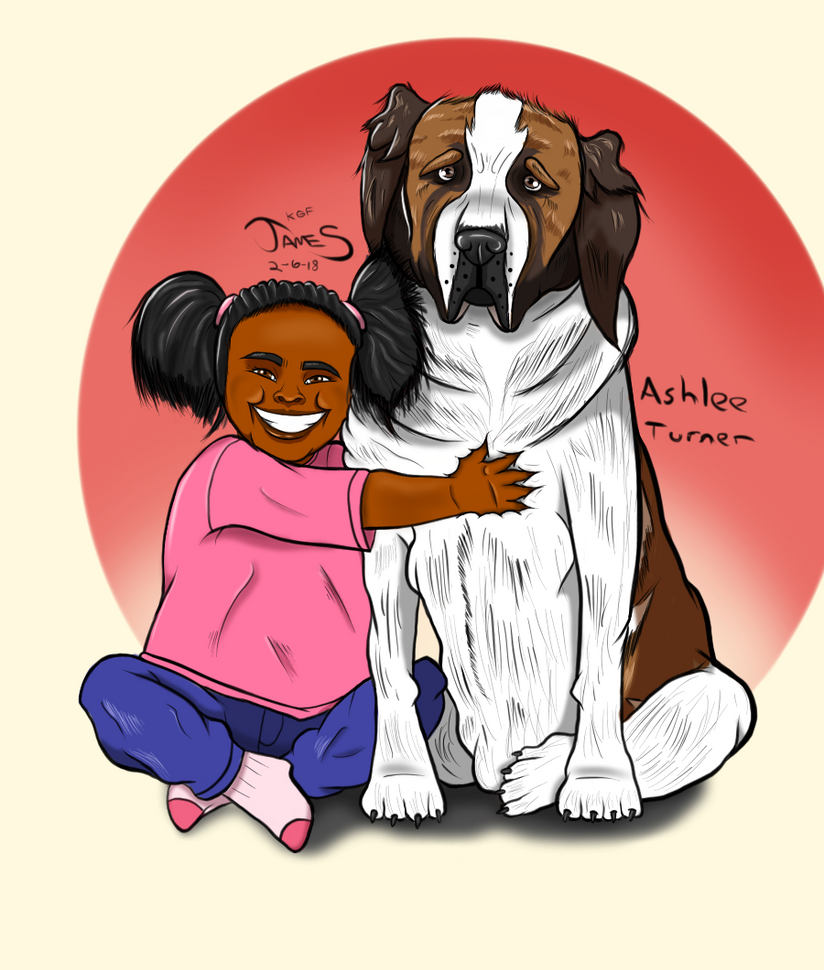 A Girl and her Dog by DinomanInc