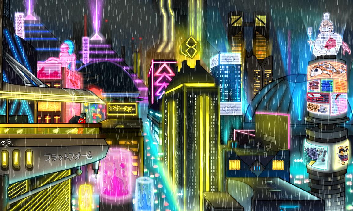 Neon City by DinomanInc