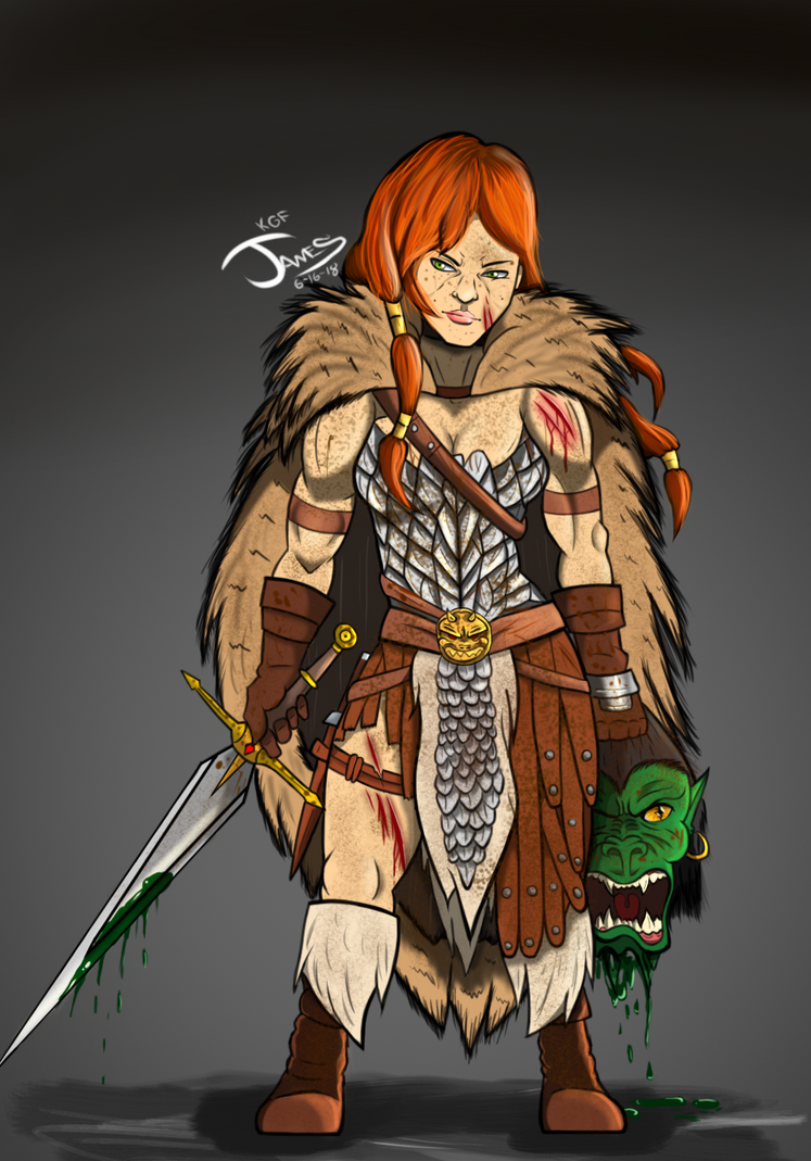 Red Sonja by DinomanInc