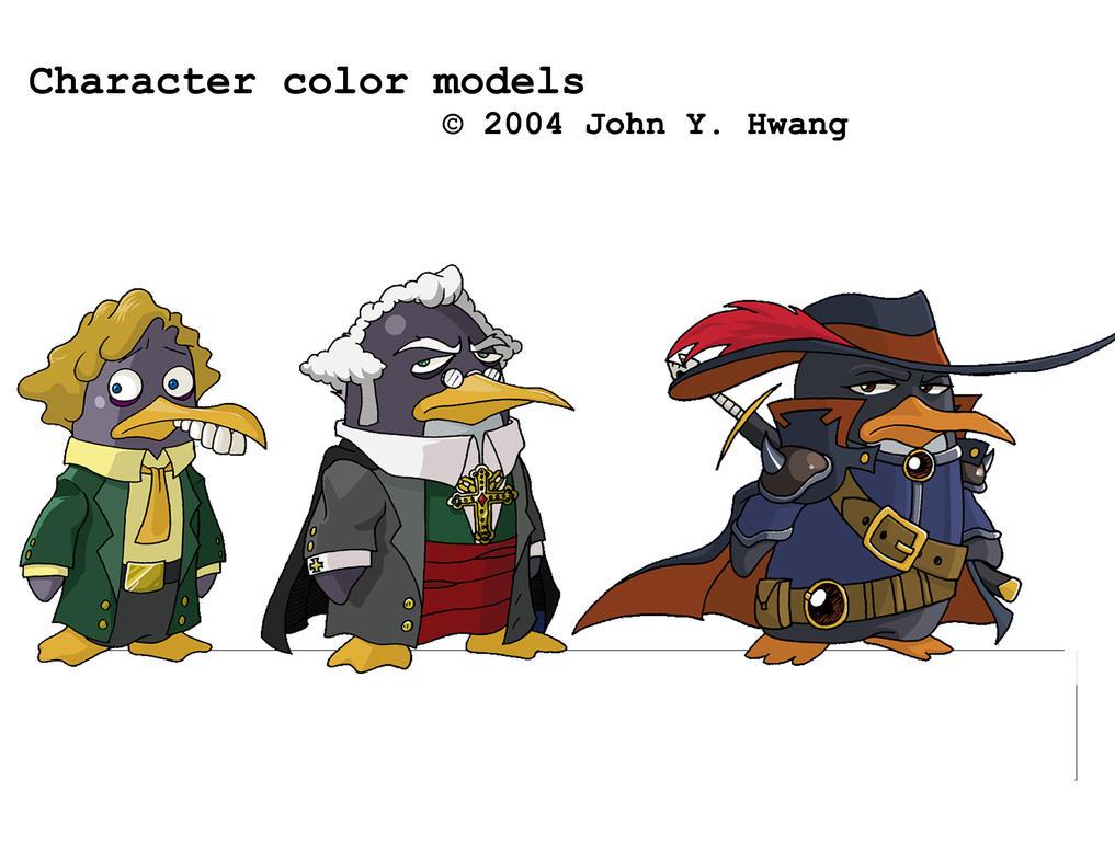 Cartoon Characters 2005 : Character sheet for cartoon by uberwang on deviantart