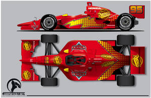 Lightning McQueen Indy car by graphicwolf