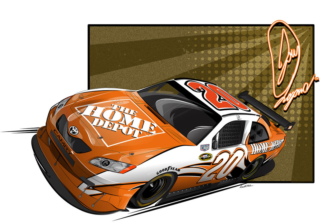 2009 joey logano home depot by graphicwolf on deviantart for Home wallpaper joey s
