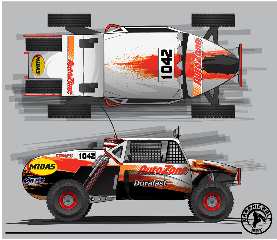 AutoZone Baja Buggy by graphicwolf