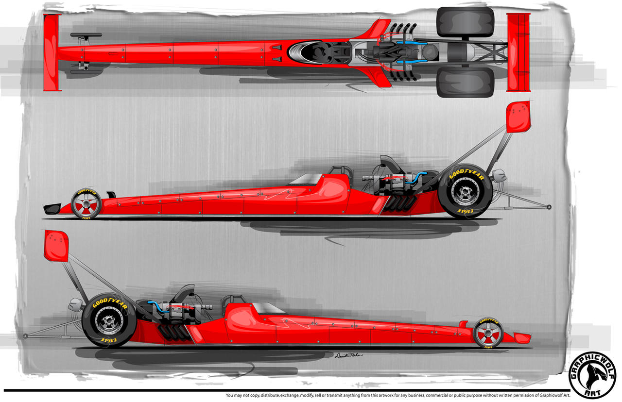 Top Fuel Dragster Template by graphicwolf