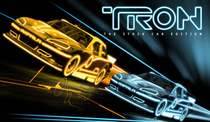 TRON NASCAR by graphicwolf