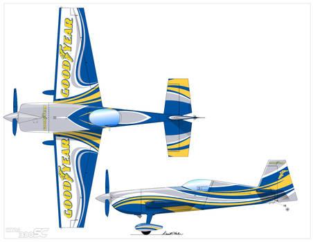 Goodyear Aerobatic Plane.  Model: Extra 330SC