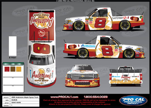 Andersons Maple Syrup Truck for 2015