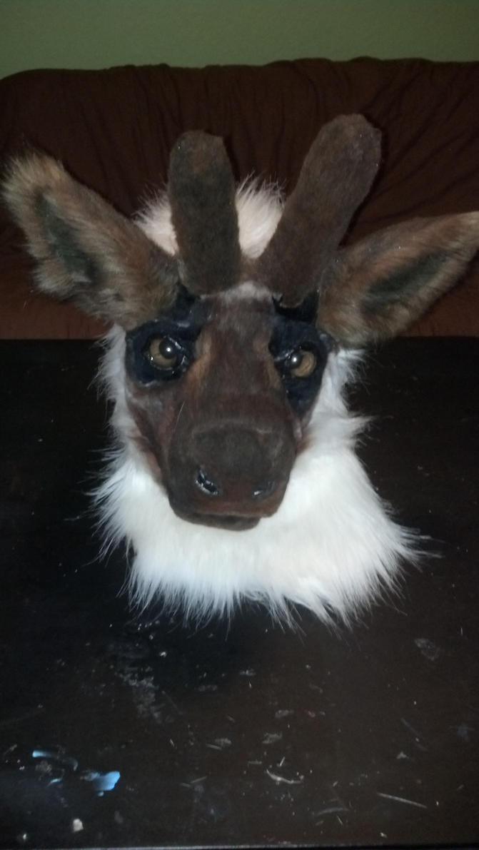 Reindeer mask WIP by CrazyShibaLady