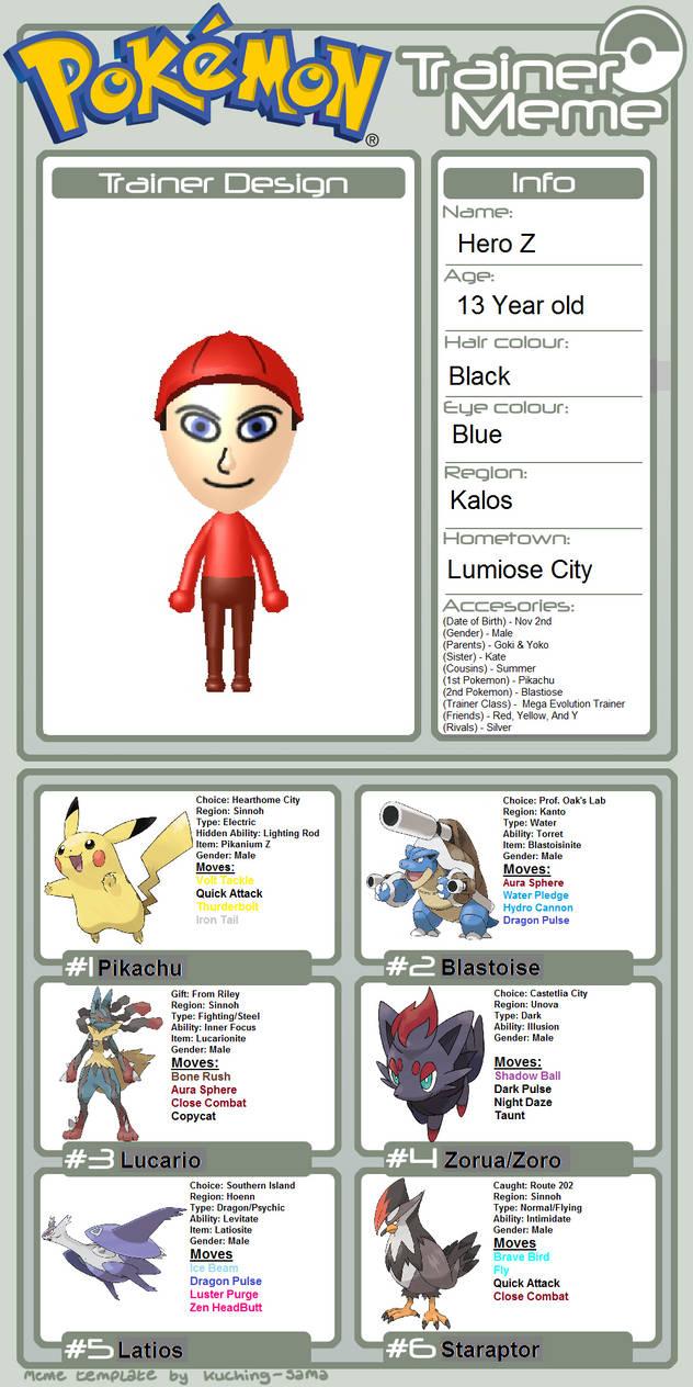 Pokemon Trianer Hero Z by coinstar18 on DeviantArt
