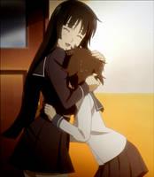 Yomi hugs Kagura