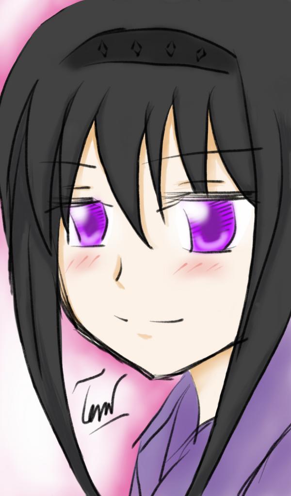 Homura's blushing by Natsuki-MaiHiME