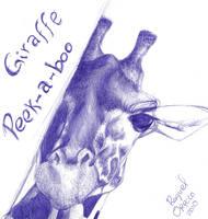 Giraffe peek-a-boo