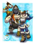 Overwatch: Tracer, Winston, Mei