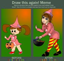 Before/After Cute Pink Witch by YukiSenmatsu