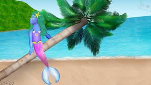 Unwinding On The Palm Tree