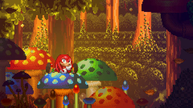 Sonic and Knuckles Pixel Wallpaper