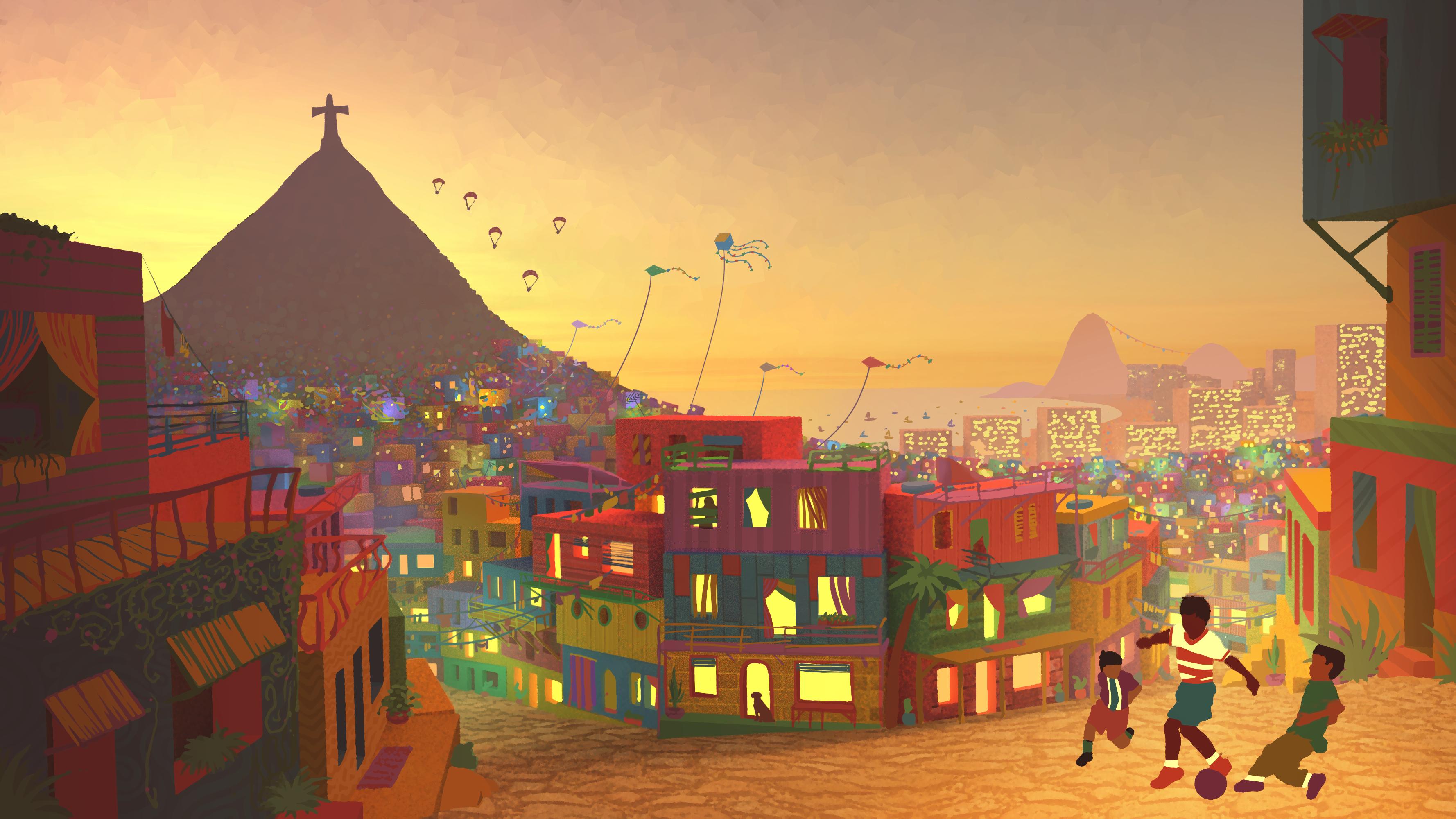 favelas of rio de janeiro by skypher on deviantart. Black Bedroom Furniture Sets. Home Design Ideas
