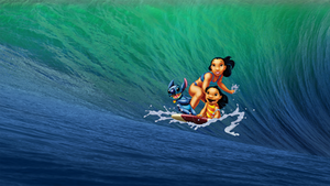 OS X Mavericks Lilo and Stitch Surfing Wallpaper