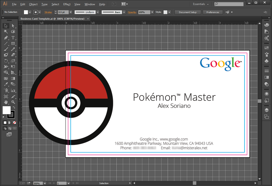 Pokemon Master Google Business Card Template By MisterAlex On DeviantArt - Google business card template