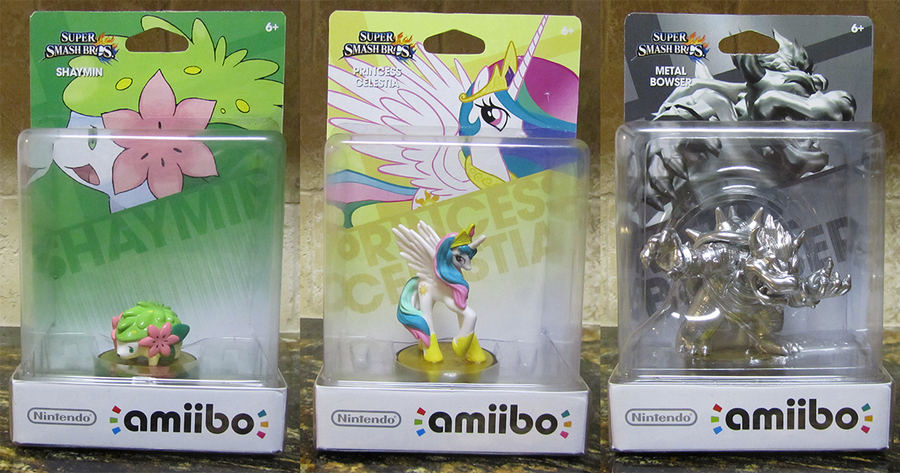 custom amiibo shaymin celestia metal bowser by