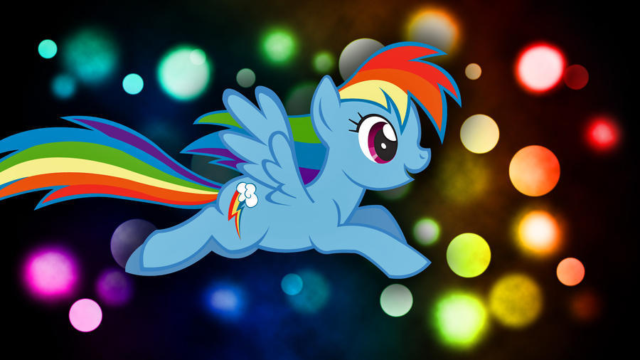 Rainbow Dash Desktop 1080p by Rubez2525