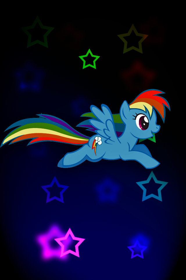 Rainbow Dash iPod/iPhone Wallpaper by Rubez2525