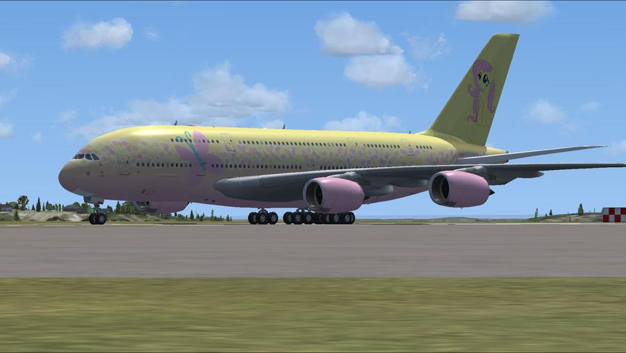 Fluttershy A380 FSX by Rubez2525 on DeviantArt