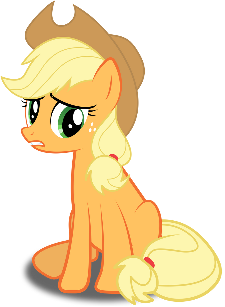 Sad Applejack by Rubez2525