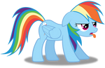 Disgusted Rainbow Dash