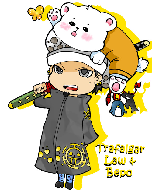 trafalgar law and bepo by chibi bb on deviantart. Black Bedroom Furniture Sets. Home Design Ideas