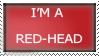 I'm a Red Head Stamp