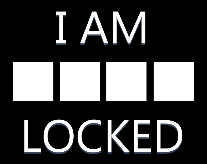 T-shirt: I Am Locked by valastaja