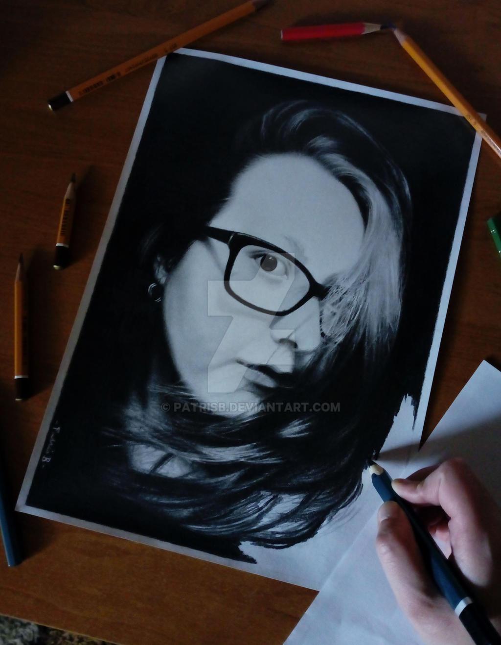 PatrisB (unfinished) - portrait of myself