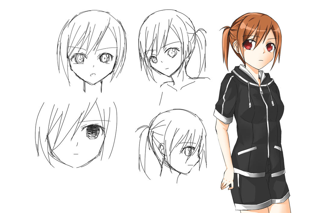 Anime Character 2 : Original anime character design by asadamiyuki on deviantart