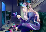 Space_Opera / Cyber girl with mechanic butterfly