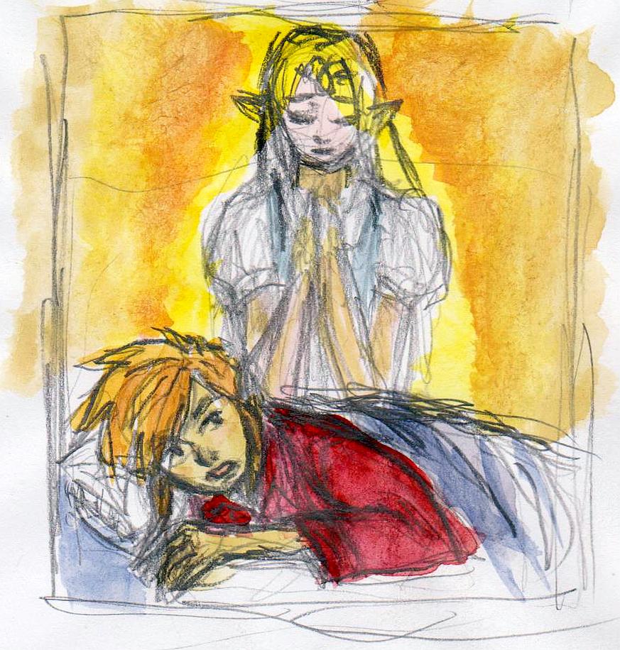 Zelda's Telepathic Message by dawwe0