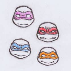 Ninja Turtle heads by dawwe0