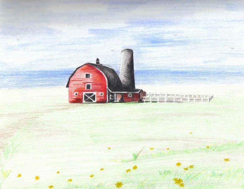 Barn Landscape by Lea-chan @Deviantart