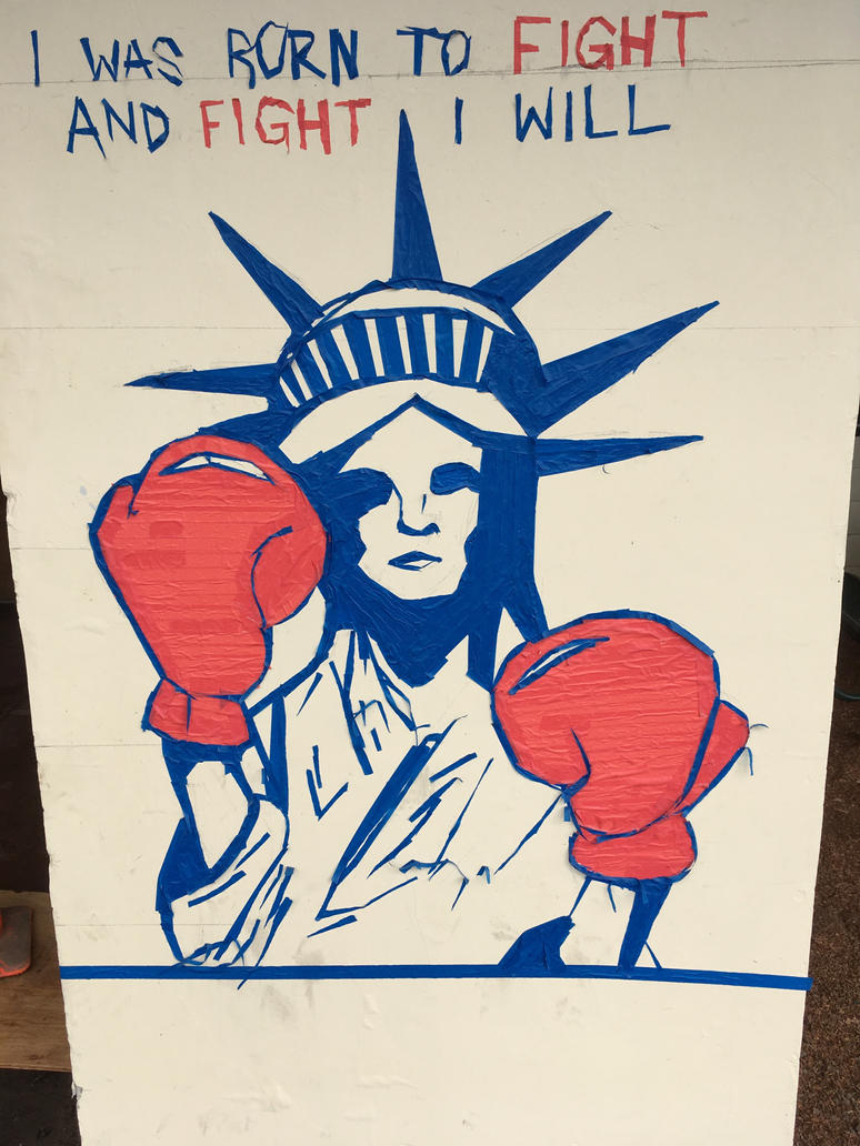 Fighting Lady Liberty (Masking Tape Mural) by Colonel-Knight-Rider ...
