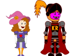 CKR and Princess Elsie's Halloween Costumes by Colonel-Knight-Rider