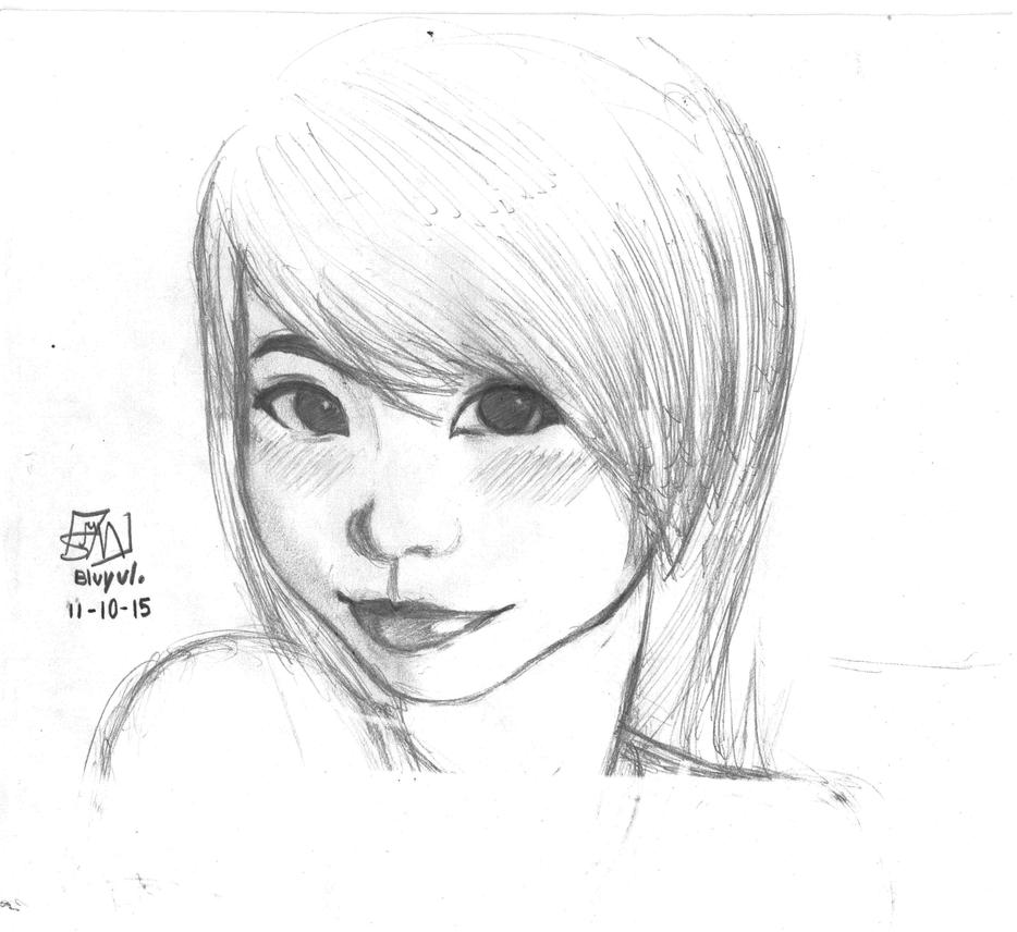 Semi-realystic Manga Asian girl by Bluyul