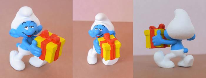 Painted Jokey Smurf Figure