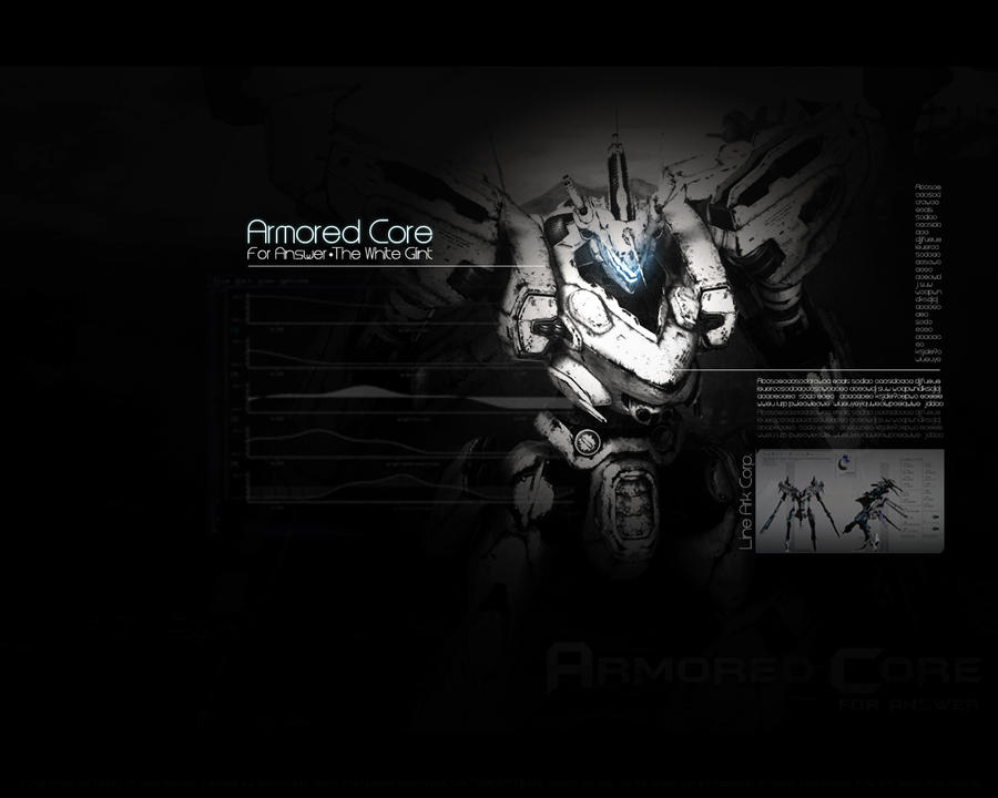 Armored Core 4 White Glint By Ritchelbaso
