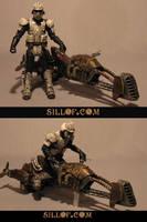 Steam Wars: Air Bike Trooper by sillof