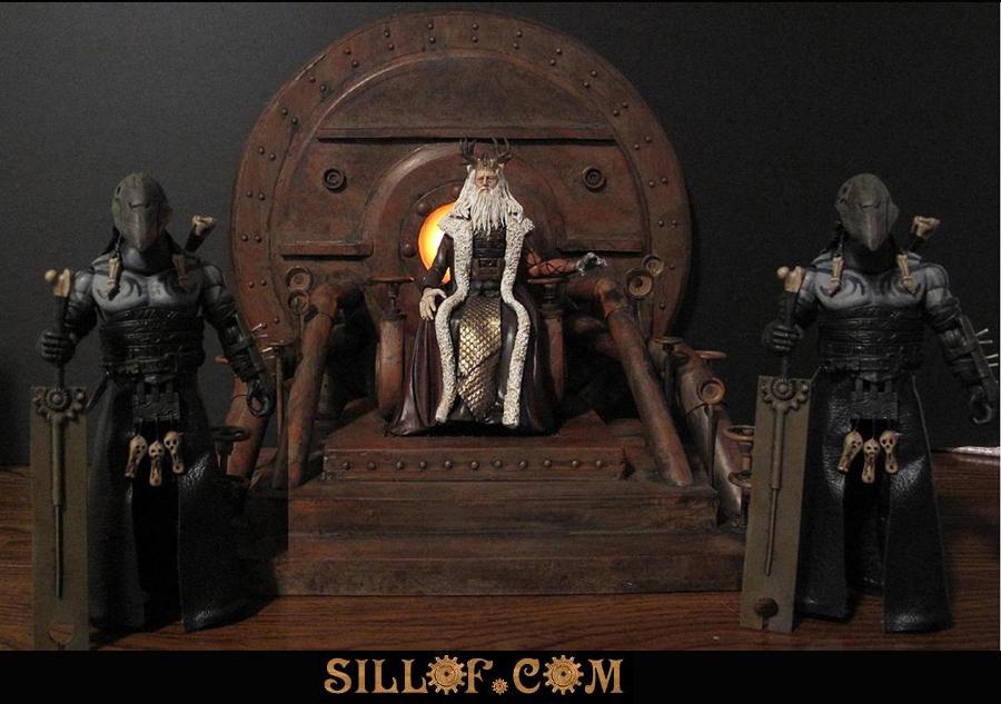 Hellboy 2-King Throne diorama by sillof