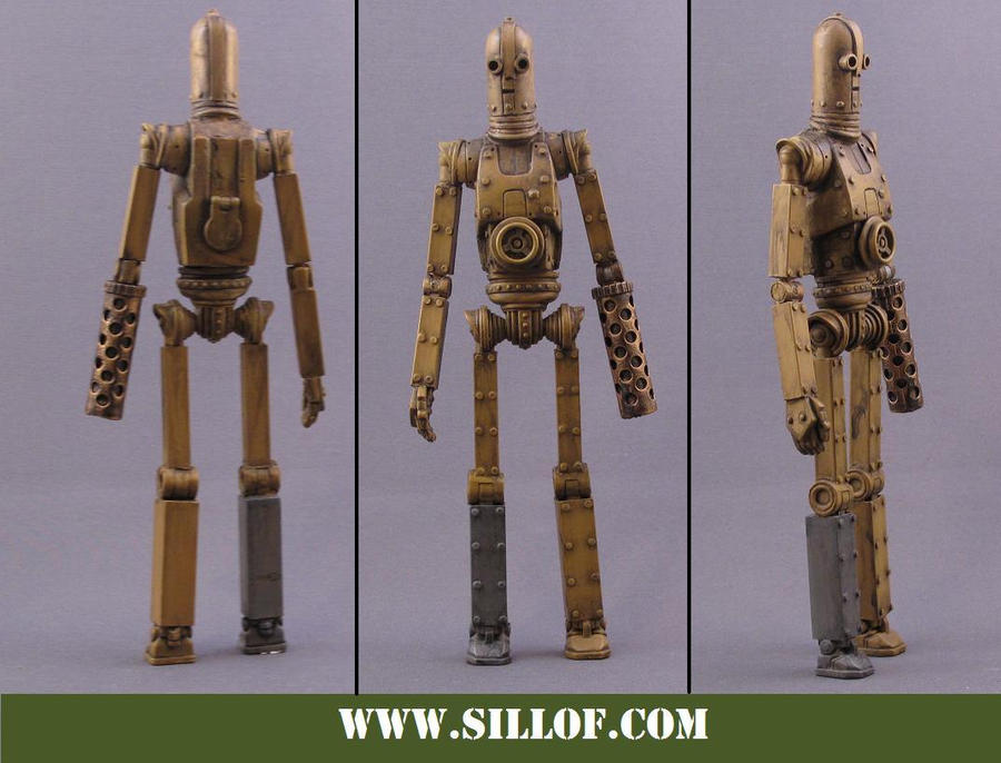 What If WWII Figures Star_Wars_1942___C_3PO_by_sillof