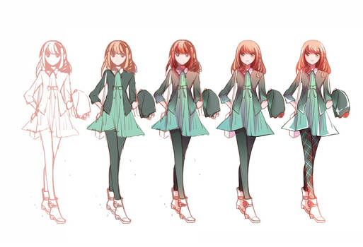 Drawing Steps - Shujinko-chan