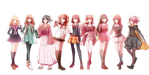 Heroines in Otome games