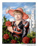 Portrait with roses by Anisis